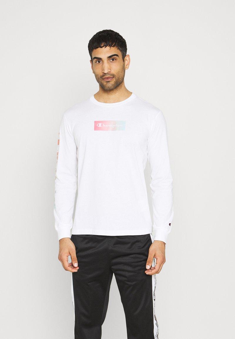 Champion - CREWNECK LONG SLEEVE  - Långärmad tröja - white
