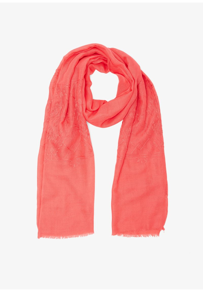 s.Oliver - Embroidery-Muster - Scarf - coral