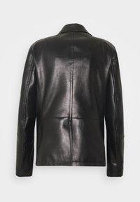 Neil Barrett - ZIP UP PEACOAT - Leather jacket - black - 1