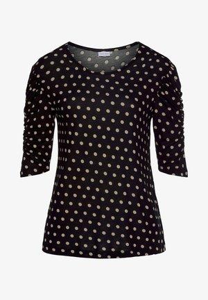 RUNDHALSSHIRT - T-shirt à manches longues - schwarz-sand-bedruckt