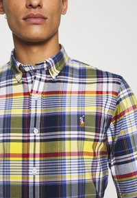 Polo Ralph Lauren - SLIM FIT PLAID OXFORD SHIRT - Shirt - yellow/blue multi - 7