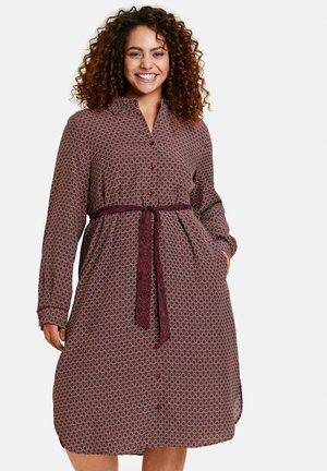 Robe chemise - red wine gemustert