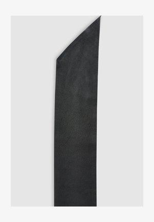 BLACK WIDE LEATHER BELT - Belt - black