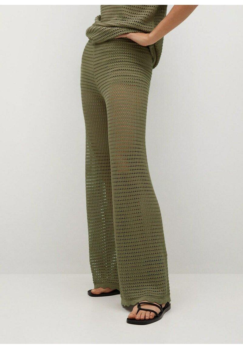 Mango - Trousers - khaki