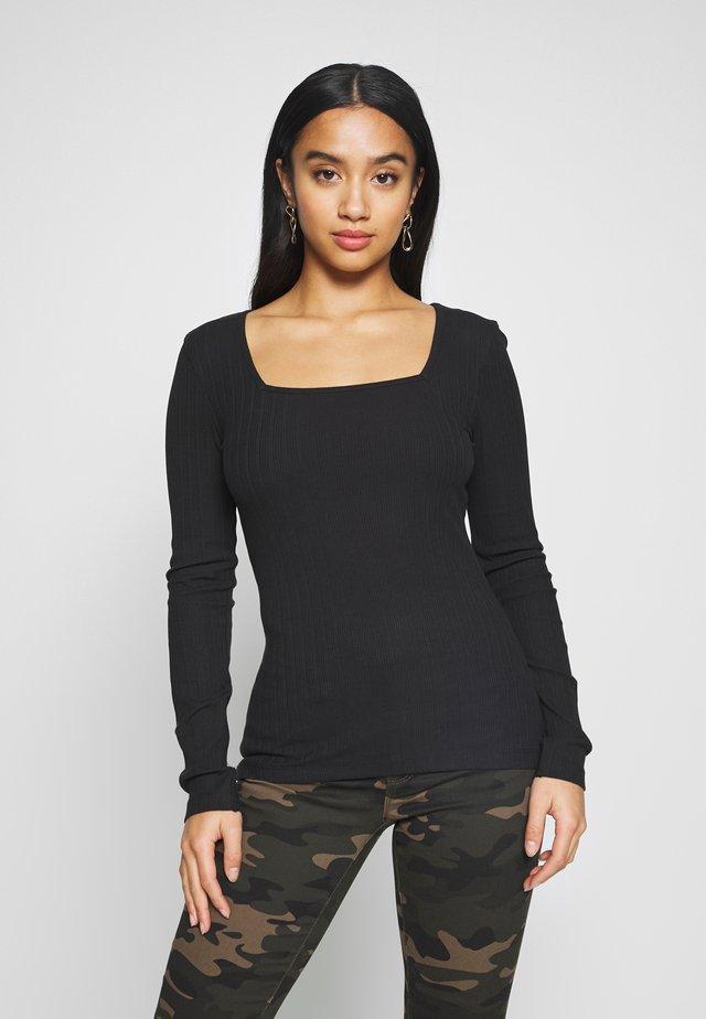 NMMONICA - Bluzka z długim rękawem - black