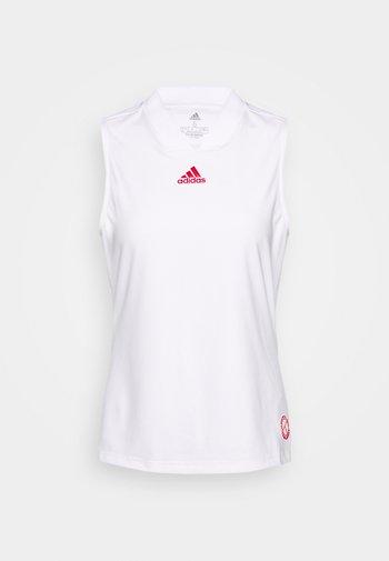 TANK - Treningsskjorter - white/scarle