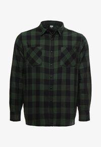 Urban Classics - CHECKED - Camicia - black/forest - 4