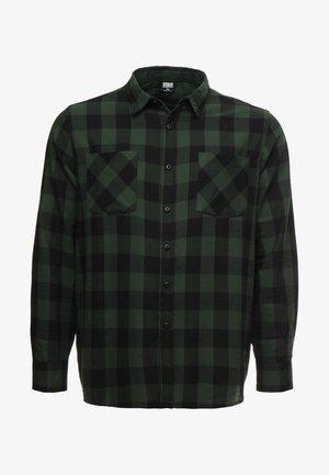 CHECKED - Camicia - black/forest
