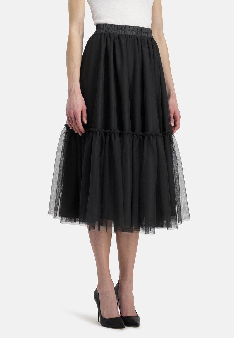 Nicowa - A-line skirt - schwarz