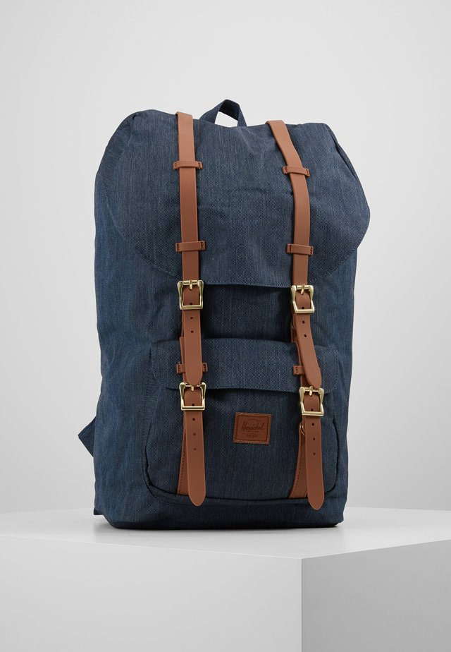 LITTLE AMERICA - Tagesrucksack - indigo denim