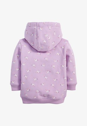 LILAC UNICORN ZIP THROUGH HOODY (3MTHS-7YRS) - Zip-up hoodie - purple