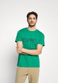 Esprit - LOGO - Print T-shirt - bottle green - 0