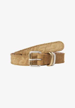 SUEDE - Belt - army green