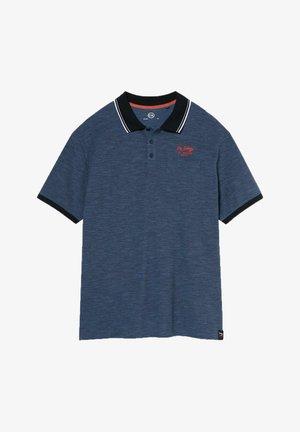 Polo shirt - mottled blue