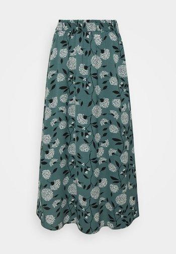 ONLNOVA LUX LONG SKIRT  - Maxi skirt - balsam green/white