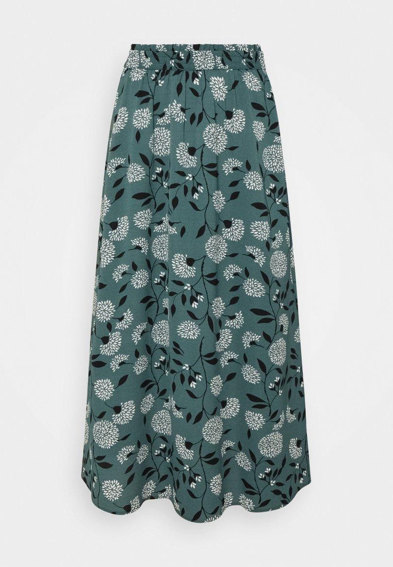 ONLY - ONLNOVA LUX LONG SKIRT  - Maxi skirt - balsam green/white