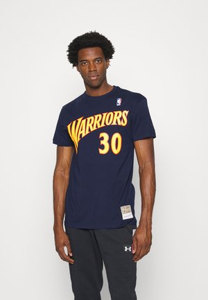 NBA GOLDEN STATE WARRIORS STEPHEN CURRY NAME AND NUMBER TEE - Article de supporter - navy