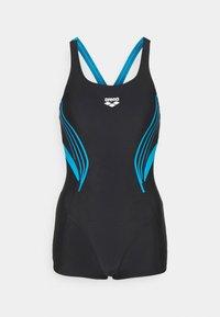 Arena - KAORI COMBINAISON - Swimsuit - black/turquoise - 4