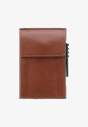 Business card holder - cognac
