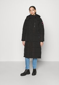 Superdry - LONGLINE EVEREST COAT - Winter coat - black - 0