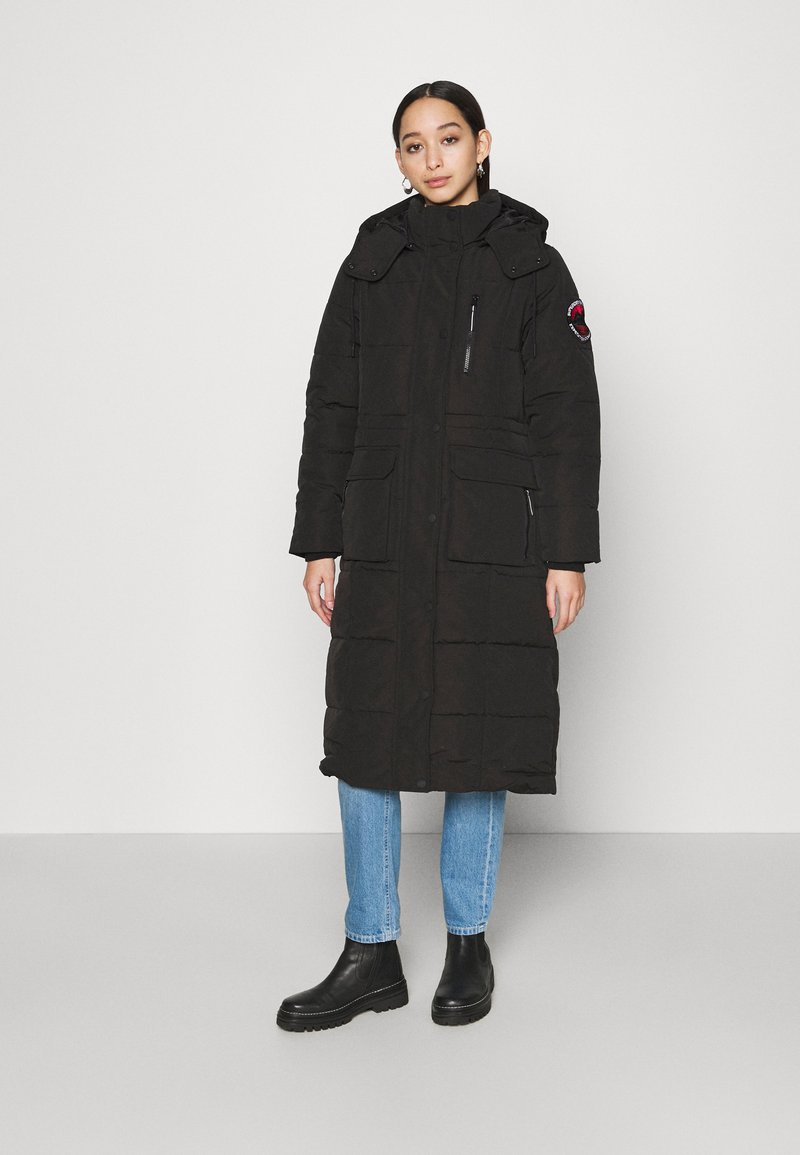 Superdry - LONGLINE EVEREST COAT - Winter coat - black