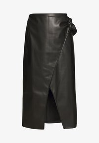Who What Wear - THE VEGAN SARONG SKIRT - A-Linien-Rock - black - 3