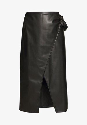 THE VEGAN SARONG SKIRT - Jupe trapèze - black