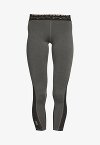 ONLY PLAY Petite - ONPJYNX TRAINING TIGHTS PETITE - Leggings - dark grey melange/black/white/gold - 4
