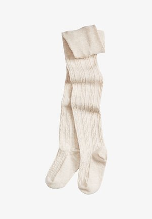 CABLE - Over-the-knee socks - off-white