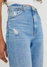 PULL&BEAR - Jeans Straight Leg - mottled blue - 4