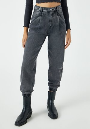 Relaxed fit jeans - mottled grey