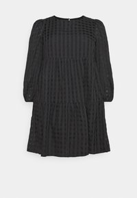 LADIES DRESS TONAL CHECK - Day dress - black