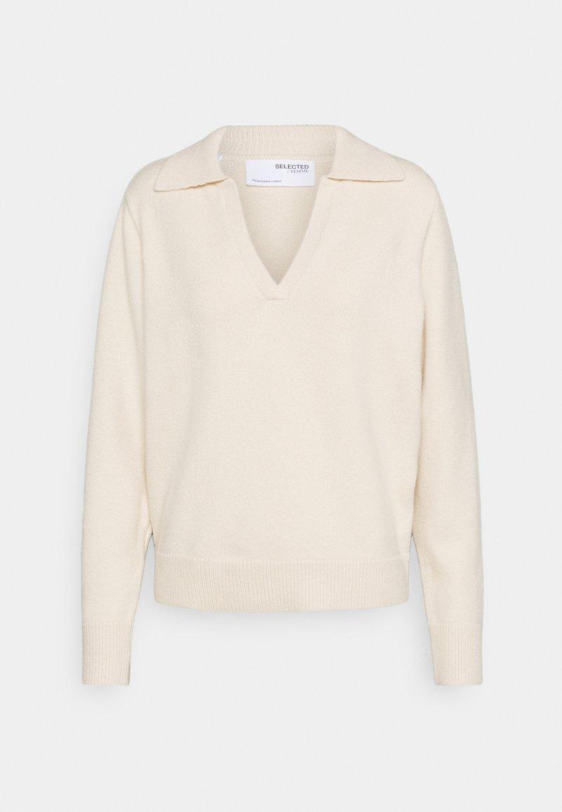 Selected Femme - Jersey de punto - sandshell