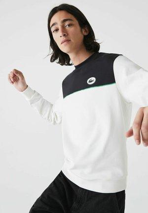 Sweatshirt - weiß / navy blau