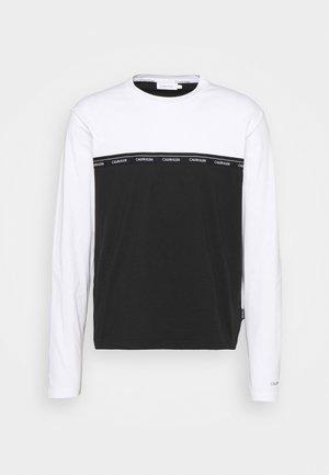 LOGO STRIPE LONG SLEEVE - Long sleeved top - colorblock bright white/black