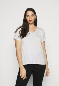 Anna Field Curvy - 2 PACK  - Basic T-shirt - black / white - 2