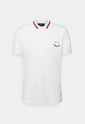 SLIM FIT HAPPY - Polo shirt - offwhite
