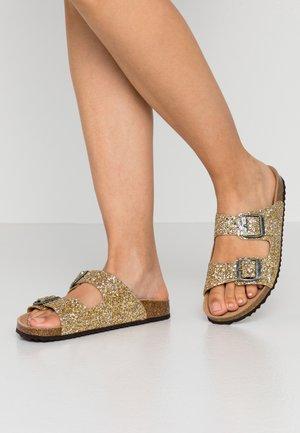 BRIONIA - Domácí obuv - gold