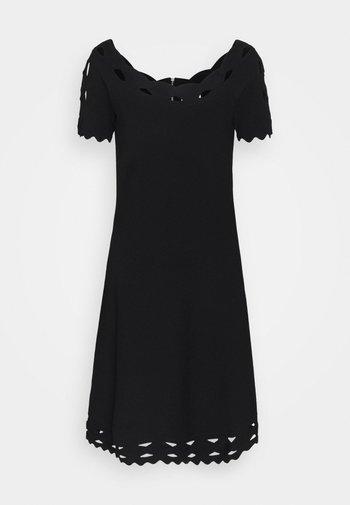 KYHL TWIST TRIM FLARE DRESS - Jumper dress - black