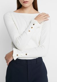 Lauren Ralph Lauren - Top sdlouhým rukávem - mascarpone cream - 4