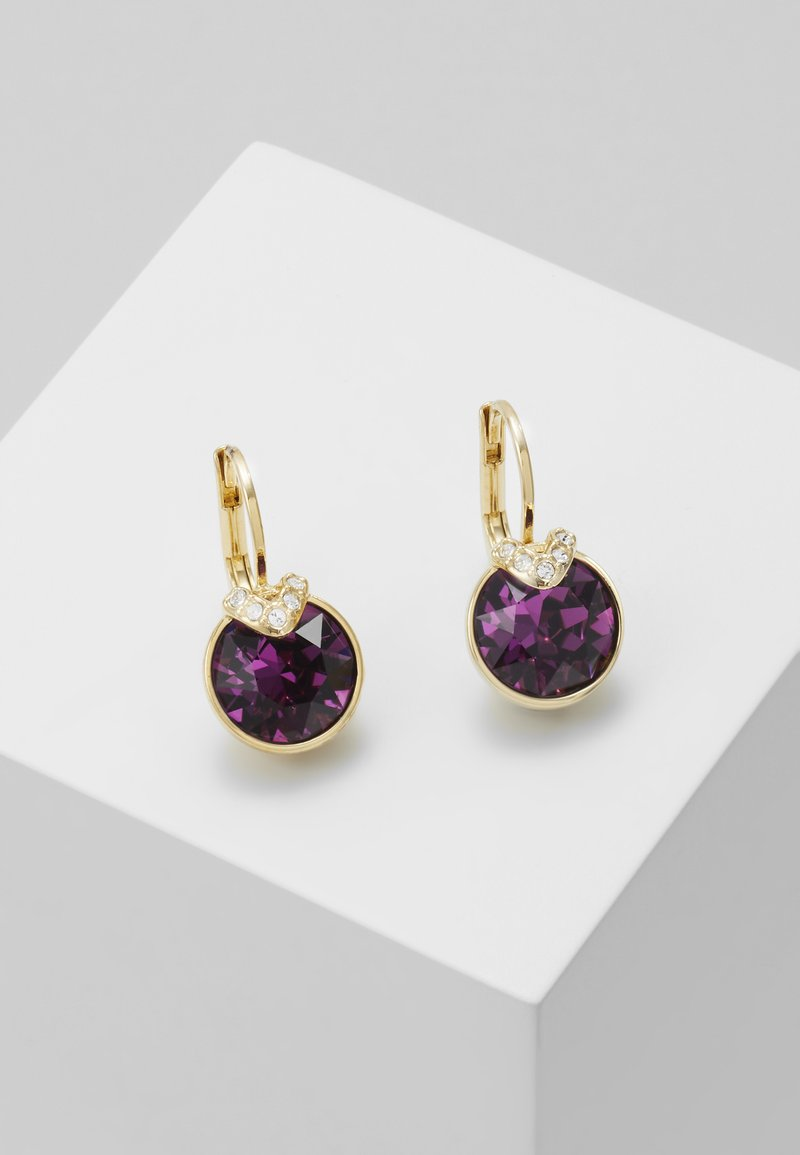 Swarovski - BELLA  DROP - Earrings - gold-coloured/lilac
