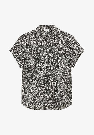Button-down blouse - multi black