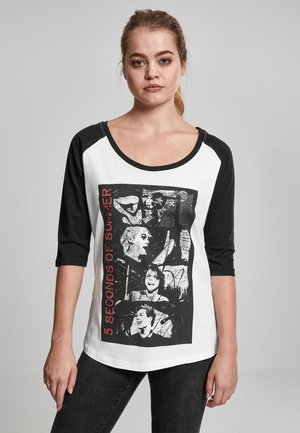 5 SECONDS OF SUMMER - Long sleeved top - wht/blk