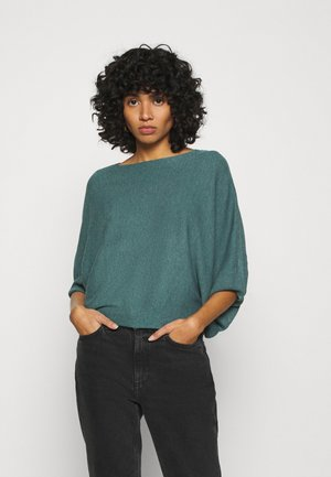 JDYNEW BEHAVE BATSLEEVE - Strikkegenser - north atlantic melange