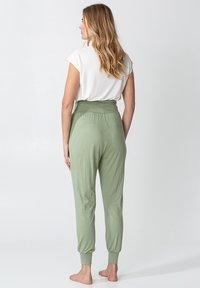 Indiska - YOGA - Tracksuit bottoms - green - 3