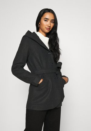 ONLCHANETT JACKET  - Classic coat - dark grey melange