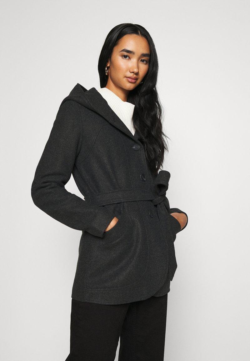 ONLY - ONLCHANETT JACKET  - Zimní kabát - dark grey melange