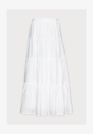 BOHO - Falda acampanada - white