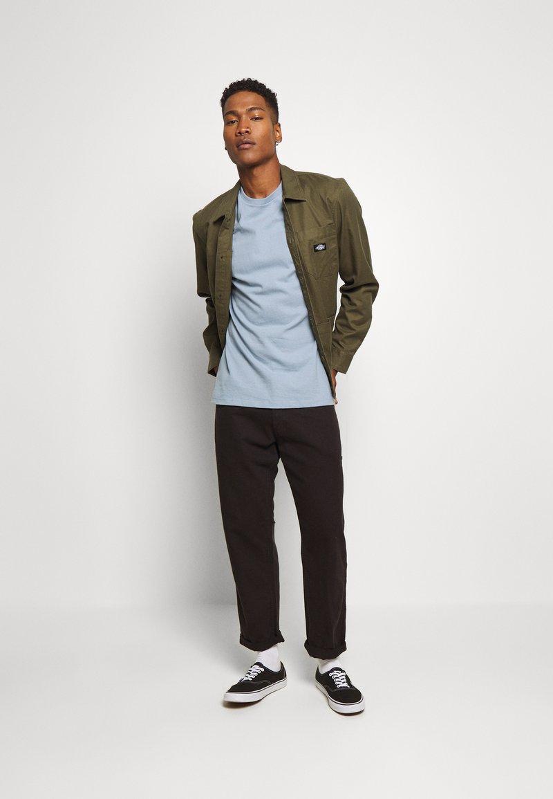Topman - 3 PACK - Basic T-shirt - black/grey/blue