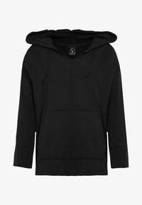 Nike Performance - W NK YOGA LUXE BAJA HOODIE - Hoodie - black/dark smoke grey - 3